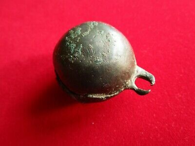 Ancient CELTIC BIG BRONZE BELL - well preserved . circa 600 BC.