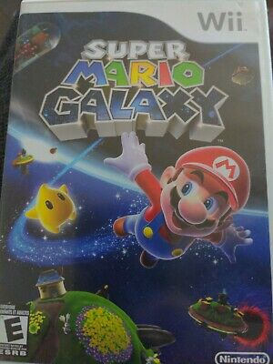 $1 Wii Game - SUPER MARIO GALAXY - CD Condition Fair Booklet Intact
