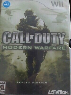 $1 Wii Game - CALL OF DUTY MODERN WARFARE - CD Condition Booklet Intact