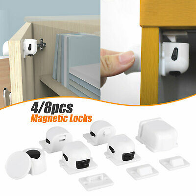 Magnetic Drawer Locker Baby Safety Cabinet Door Lock Children Protection Kids US