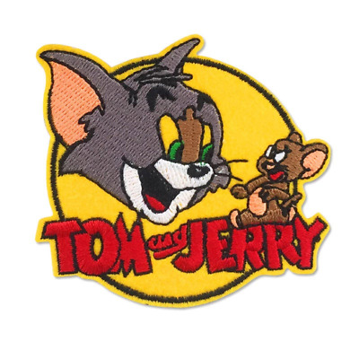 """The Tom Embroidered Iron//Sew ON Patch Cloth Patch Sew Applique 3.1/""""X 2.9/"""""""