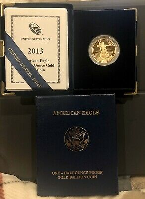 2013 American Eagle One-Half Ounce Gold Proof Coin W/COA MINT WESTPOINT
