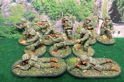 28mm Bolt Action WW2 US Airborne Infantry Squad - Painted