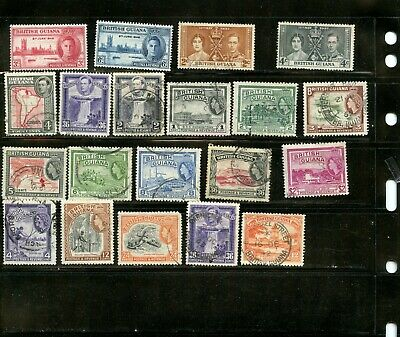 British Guiana stamp collection - from classic album