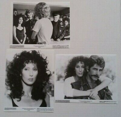 1985 Vintage MASK Original Press Photos x 3 CHER SAM ELLIOTT BOGDANOVICH