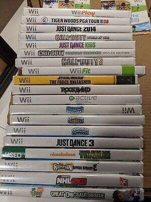 20 WII GAMES LOT - No Doubles 20 unique titles Free Overnight Priority Shipping