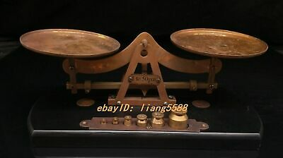Collection of Chinese folk weighing scales can be used normally
