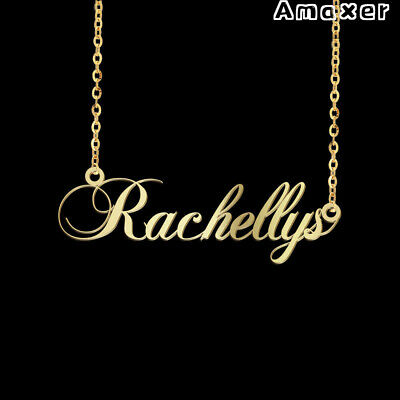 Personalized Custom Name Necklace Nameplate Letter Stainless Steel Pendant