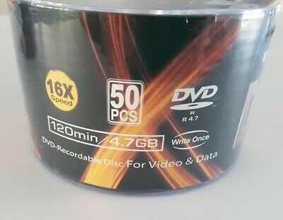 50 pack BR Tech DVD Recordable Discs for video and data 4.7gb 16x