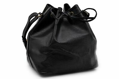 Authentic Louis Vuitton Epi Petit Noe Black Shoulder Bag M59012 LV 90549