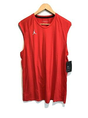 NEW Nike Air Jordan Dri Fit Athletic Basketball Jumpman Tank Top LARGE Red NWT