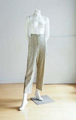 Vinyl Snake Print  High Waist Relaxed Fit Slacks Weswear for Laura Petites