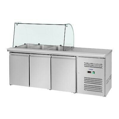 Saladette Pizza Cooling Table Refrigerated Counter Gastro Fridge 365 Litres