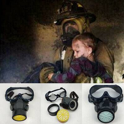 USA Emergency Respirator MaskE Chemical Gas Mask with Goggles  Protection HOT