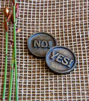 Yes No Coin - Quirky gift - chunky solid metal 30mm diameter decision maker