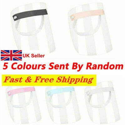 UK Full Face Shield Clear Flip Up Visor Oil Fume Protection Safety Work Guards**