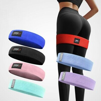 1*Hip Circle Loop Resistance Band Workout Exercise for Legs Butt Squat Non-slip