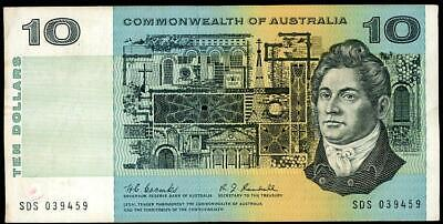 1967 Australian $10.00 Banknote Coombs/Randall gF - SDS 039459