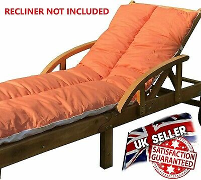 Sun Lounger Cushion Outdoor Garden Patio Recliner Thick Padded  Spare