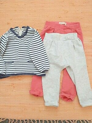 Girls Joggers & Striped Jumper Age 2 Years