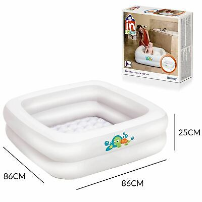 Portable Inflatable Baby Bath Tub For Shower 86cm Toddler Travel Bath 0-3 Years