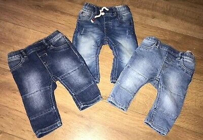Bundle Of Baby Boys Blue Denim Jeans Jeggings Trouser Bottoms Next 3-6M H&M 4-6M