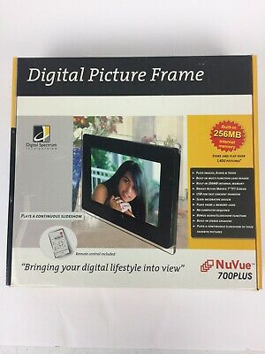 Digital Picture Frame NuVue 700Plus Digital Spectrum NEW Open Box