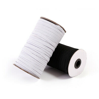 180M Elastic Rope Band Rubber Tape Ear Hanging White Black DIY Sewing Crafts USA