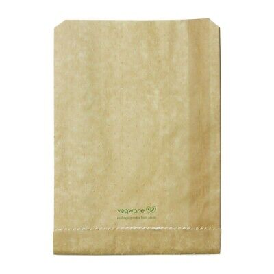 Vegware Compostable Therma Paper Hot Food Bags 229 x 165mm (Pack of 500) - [FC89