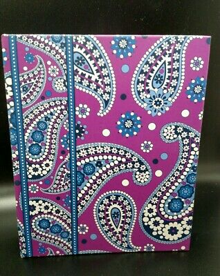 "VERA BRADLEY Retired Boysenberry 6.25"" x 7.5"" 6 Ring Binder Address Book"