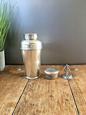 Top Quality Art Deco Harrods Silver Plated Cocktail Shaker Antique Bar Cabinet