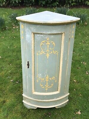 Vintage Painted Pine Dutch Corner Cabinet