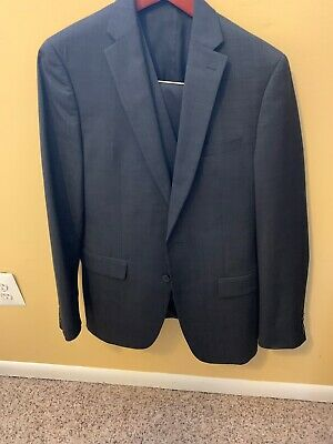 Mens Slim Fit Bar III Suit Charcoal Gray 40R