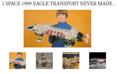 VINTAGE SPACE 1999 1976 EAGLE ONE 1 Model Space 1999 Eagle 1 Transporter