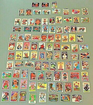 1980's Topps Garbage Pail Kids GPK Sticker / Cards Large Collector Lot of 98