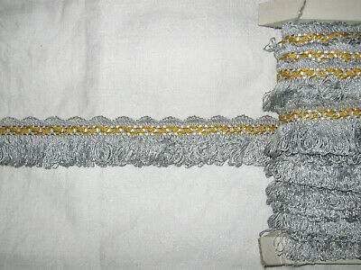 11 METRES DE GALON ANCIEN PASSEMENTERIE DE LYON--FRENCH FRINGE TRIM--N°MR72