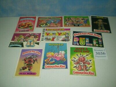 "Lot of 10 Original 1986 Garbage Pail Kids Post Cards Approx Size 6 7/8"" x 4 7/8"""