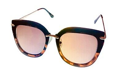 New Kenneth Cole Reaction Womens/' CAT EYE Gradient Sunglasses Black//Gold Frame