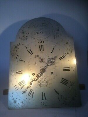 """Silvered Arch dial Longcase 8 Day Movement 12"""" x 16.5"""" signed Robert Field Frant"""