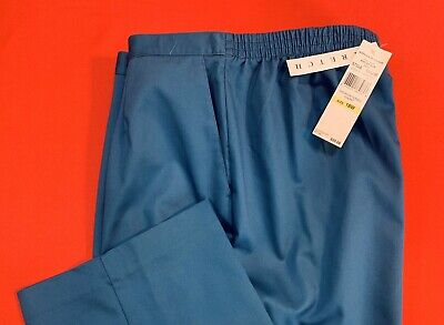 🌷🌷ALFRED  DUNNER .. Pull-On Pants .. Peacock Blue ... Plus Size 18W .. NEW🌷🌷