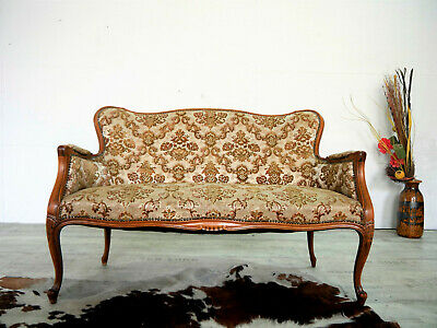 Zwei Sitzer Chippendale Sofa / Couch Polstersofa