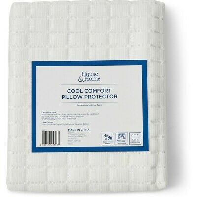 House & Home Cool Comfort Pillow Protector - White