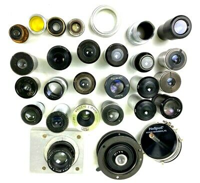 Vintage Microscope Lens Objective Lot - Bausch & Lomb Zeiss & Others Pre-Owned