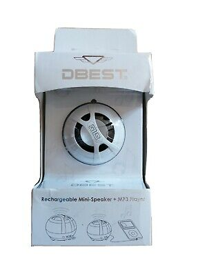 Dbest,rechargeable mini speaker and mp3 player, New In Original Packaging