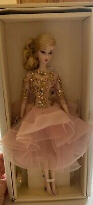 Barbie Fashion Model Blush And Gold Cocktail Dress