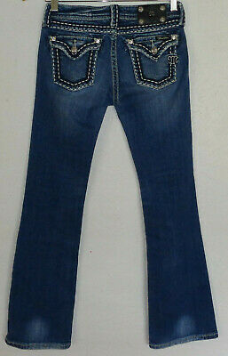 Miss Me Girls 14 Boot Woman's (28 x 31) Distressed Blue Denim Pants