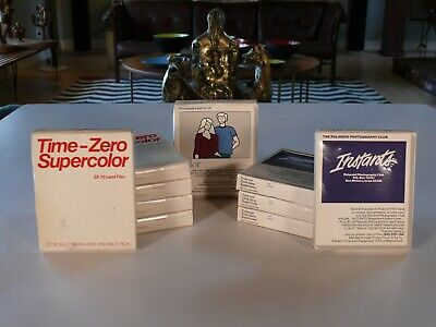 VINTAGE Polaroid Time-Zero Supercolor SX-70 Land Color Film 10 Packs! Expired!