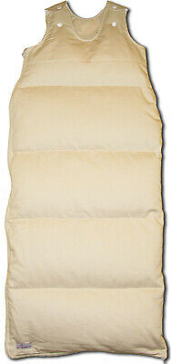 Down Fill Baby Sleep Sack Natural Color Organic Cotton Size Large Extra Tall