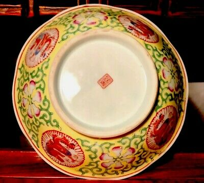 Antique/Vintage Chinese Hand Painted Enameled Dragon Bowl! Marked Ming! Rare!
