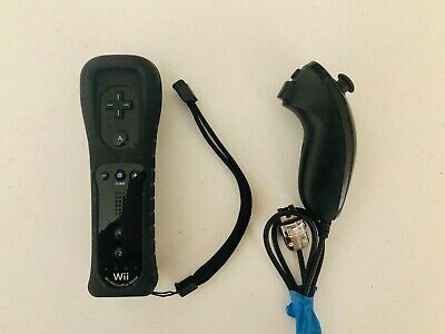 Nintendo Wii/WiiU Wii Remote with built in Motion Plus + OEM Nunchuk (FAST SHIP)